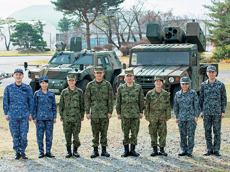 防衛省 陸上自衛隊、海上自衛隊、航空自衛隊