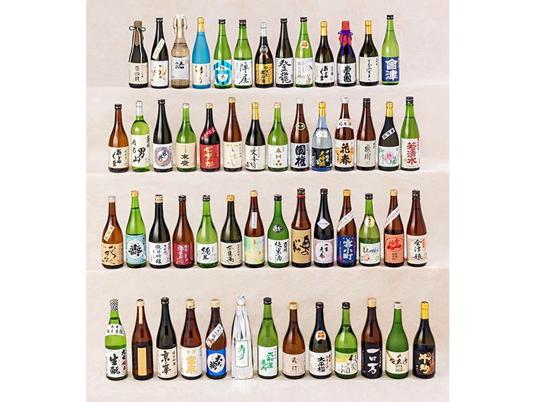 おいしい福島の地酒。ボトルに掛けられた専用ハガキで応募しよう