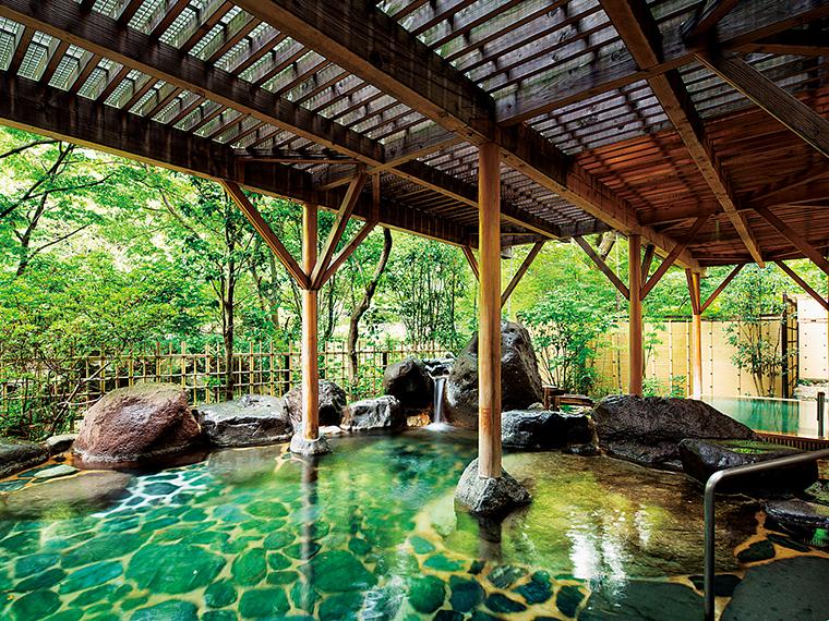山間の閑静な温泉郷にあり、渓流沿いに佇む温泉旅館