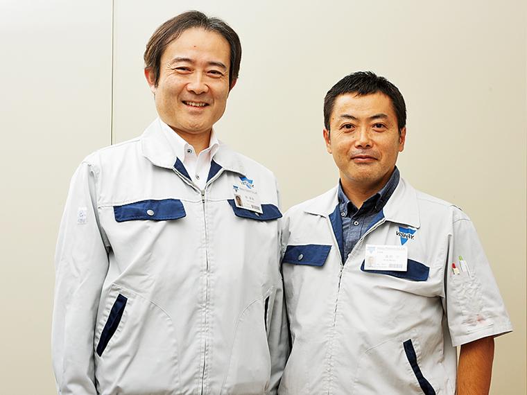 「休日に運動やウォーキング、登山などを行う社員が増えているようで、健康意識の高まりを感じます」と話す畑さん(左)と森田さん