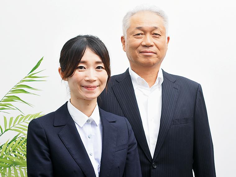 衛生管理者の山本桃子さん(左)と菅澤 清社長