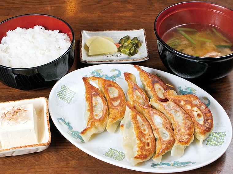 「ギョーザ定食」(770円)※月曜日は「ギョーザデー」として670円で提供