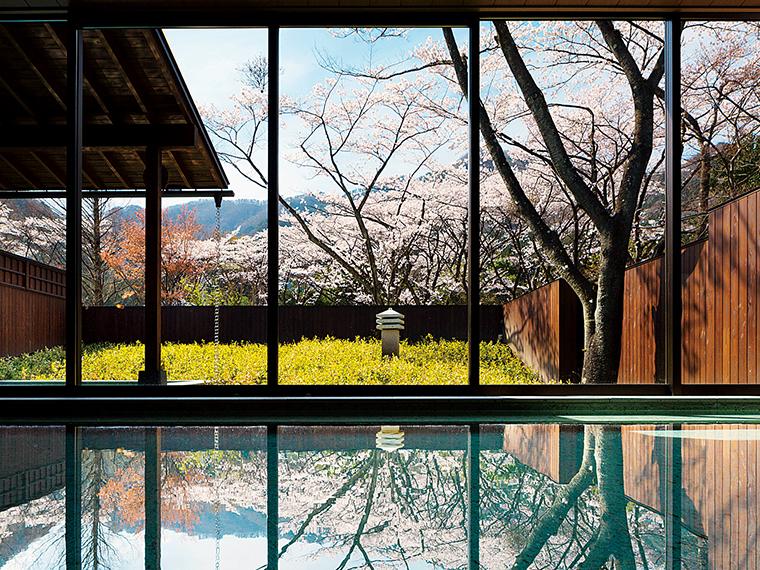 鬼怒川渓流沿いに佇む静かな温泉旅館。温泉街の喧騒を感じることなく、静かな時間を過ごせる