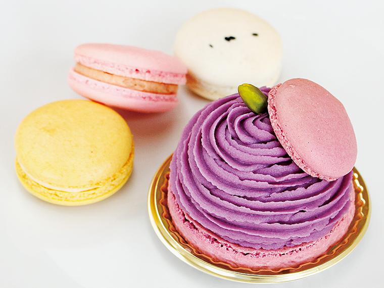 【松月堂菓子店】紫芋のマカロンと選べるマカロン3個