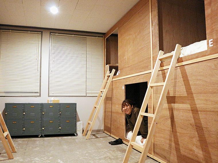 ドミトリーは一部屋最大8名収容可能。中に入るとちょうどいい広さが心地よくて、抜け出せなくなる人もいるかも!?