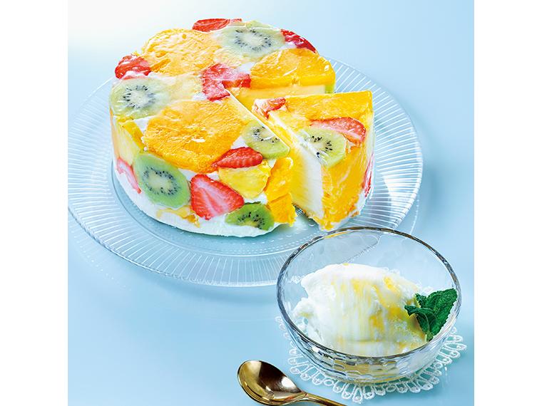 【福島市 honeybee】果物づくし!季節のジェラートケーキ「フルーツハニー」(4,920円・送料別)