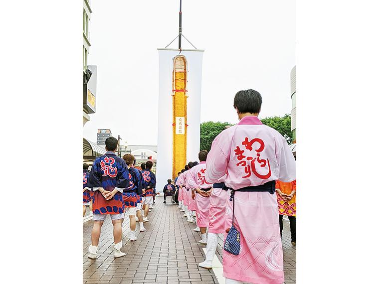 厳かに行われた2020年の神事(画像提供:福島わらじまつり実行委員会)
