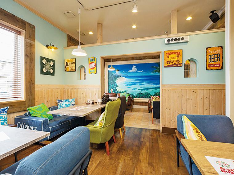プチリゾート気分を味わえる、ハワイアンレストランでスローな時間を楽しもう!